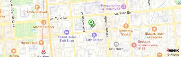 НИИ микробиологии и вирусологии МОН Республики Казахстан — схема проезда на карте