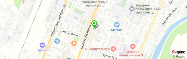 Страховая компания Согласие в Рубцовске — схема проезда на карте