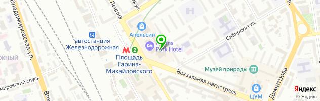 Гостиница Конгресс-Отель Новосибирск — схема проезда на карте