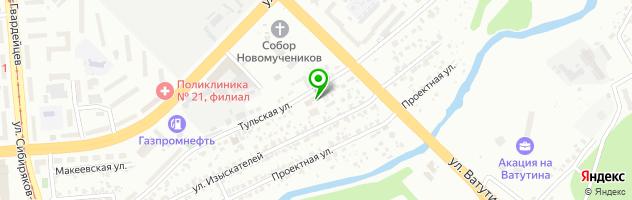 Техноблок Сибирь — схема проезда на карте