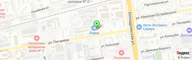 Автосервис Ладья — схема проезда на карте