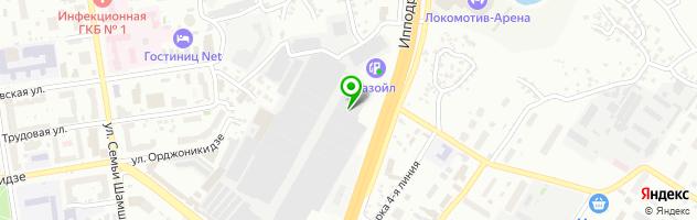 Автосервис Мираж — схема проезда на карте