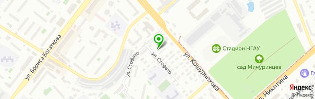 Автокомплекс Виста — схема проезда на карте