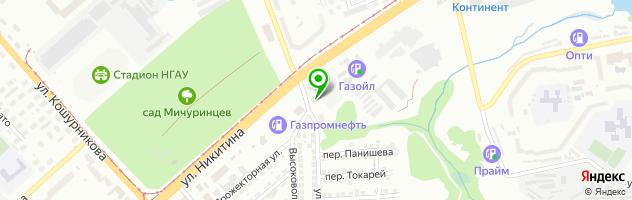 СТО ГБШ-1 — схема проезда на карте