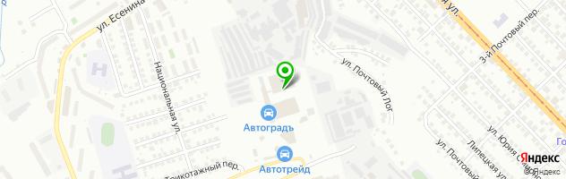 Автосервис Автопарк — схема проезда на карте