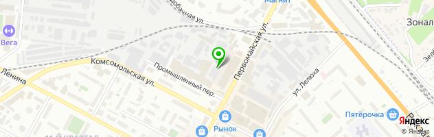 Торгово-производственная компания Стекольный Двор — схема проезда на карте
