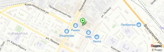 Оптово-розничная компания Генерал Оптик — схема проезда на карте