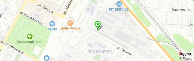 Компания по лазерной резке ткани Сибирь Принт — схема проезда на карте