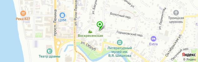 Стеклопласт — схема проезда на карте