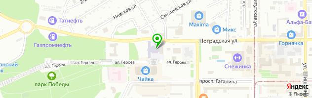 Филиал КузГТУ в г. Прокопьевске — схема проезда на карте