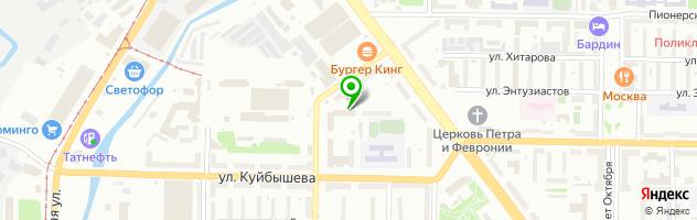 Кафе Паллада — схема проезда на карте