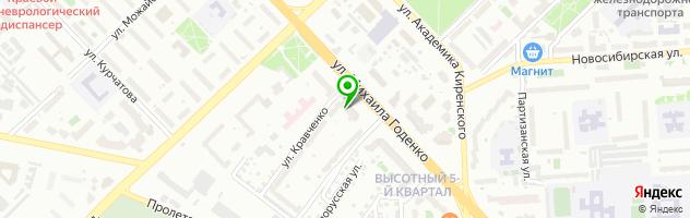 Шинный центр Скад — схема проезда на карте