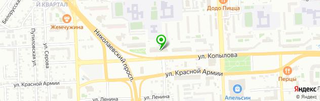 Ресторан-таверна Иоанидис — схема проезда на карте