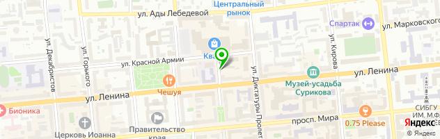 Центр продаж курорта Белокуриха — схема проезда на карте