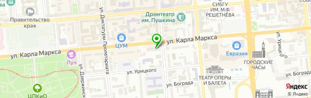 Юнона — схема проезда на карте