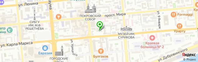 Красноярская консалтинговая компания — схема проезда на карте