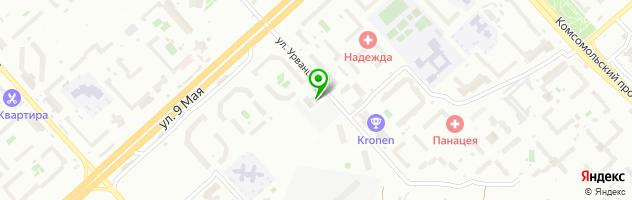 Ресторан МОДЕРNЪ — схема проезда на карте