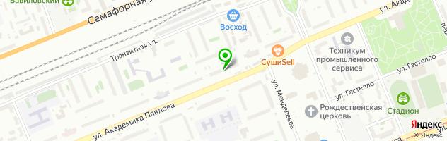 Химчистка АкваЛоск — схема проезда на карте