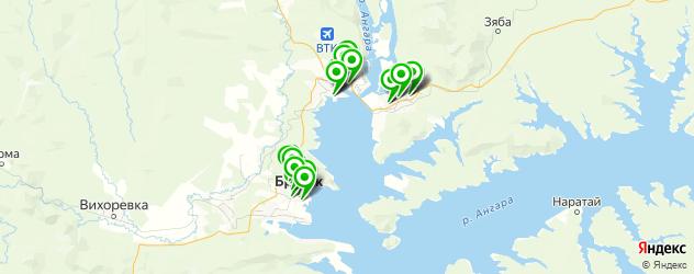 фитнес-клубы на карте Братска