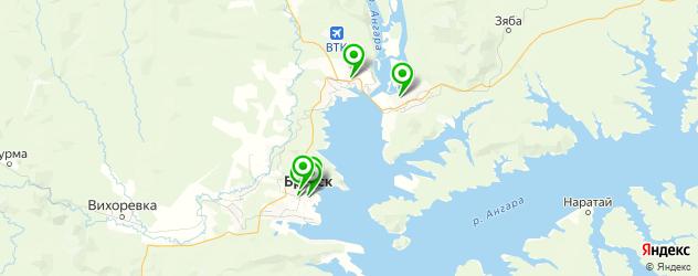 ночные клубы на карте Братска