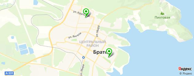 гимназии на карте Братска