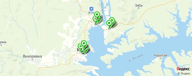 компьютерные помощи на карте Братска