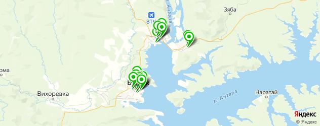 мастерские на карте Братска