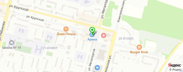 букмекерские конторы на карте Братска