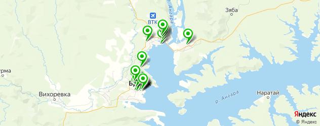 рестораны на карте Братска