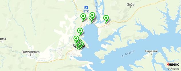 рестораны с танцполом на карте Братска