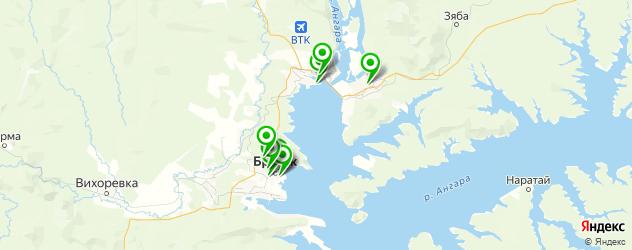 рестораны с живой музыкой на карте Братска