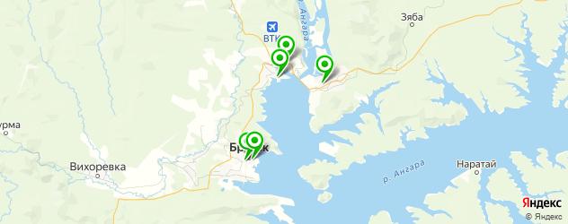 йога-центры на карте Братска