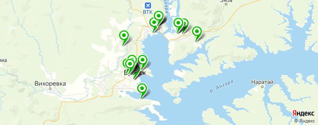 больницы на карте Братска
