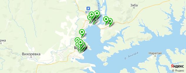 Доставка еды на карте Братска