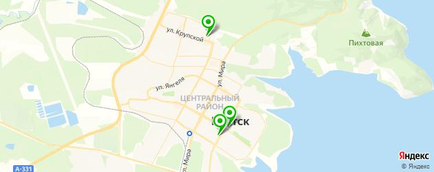 культурные центры на карте Братска
