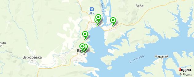 вегетарианские рестораны на карте Братска
