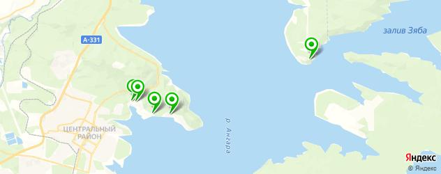 санатории на карте Братска