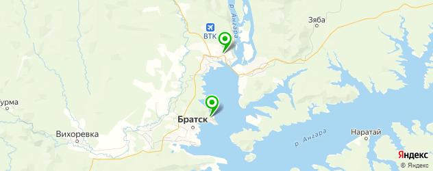 лыжные базы на карте Братска