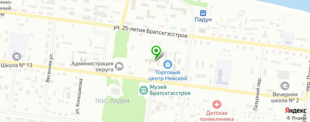 институты на карте Братска
