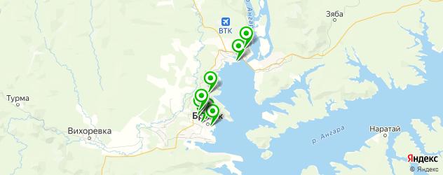 Доставка шашлыка на карте Братска