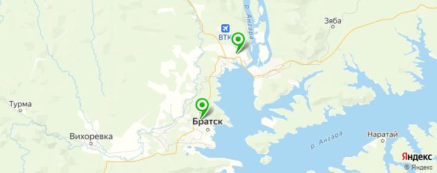 прачечные на карте Братска
