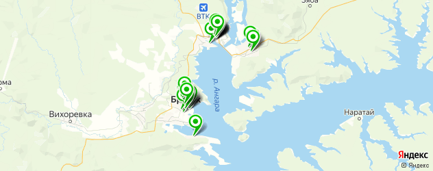 Бытовые услуги на карте Братска
