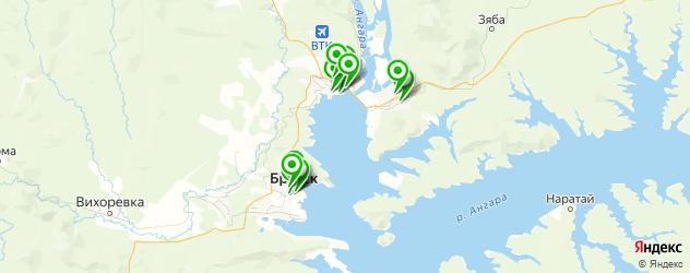 спорты-бары на карте Братска