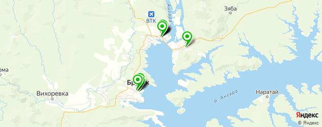 университеты на карте Братска