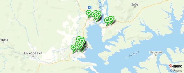 шиномонтажи на карте Братска