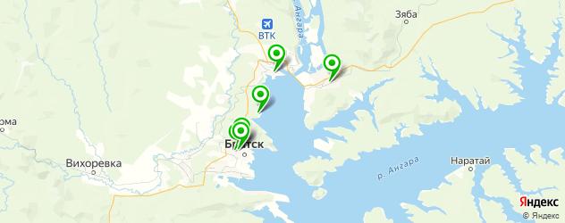 музеи на карте Братска