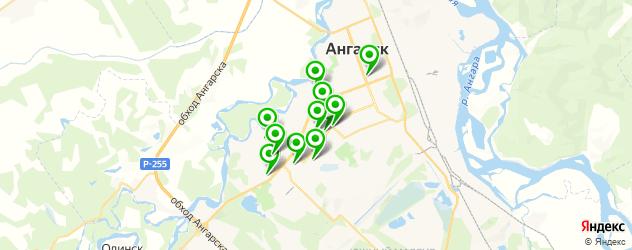 спортивные секции на карте Ангарска