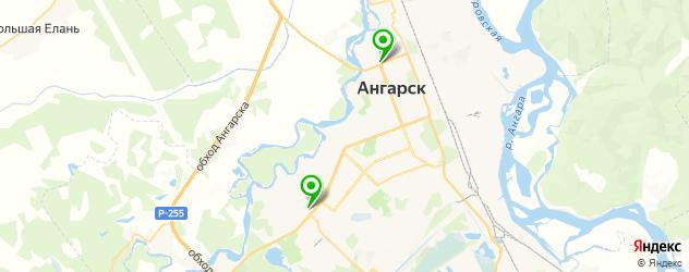 рестораны с детской комнатой на карте Ангарска
