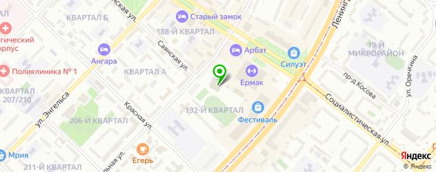 катки на карте Ангарска