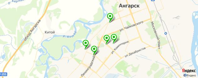 йога-центры на карте Ангарска